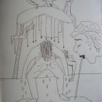 Feest (inkt op papier - 25/35 cm)