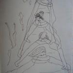 Bruiden (inkt op papier - 25/35 cm)