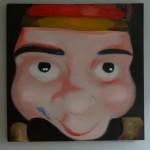 Poppenkast 6 (2012 - olieverf op doek 100/100 cm)