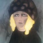 Vrouw met geel haar (2014 - olieverf op doek - 100x80)