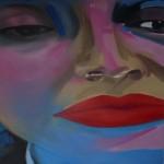 Vrouw 2 (olieverf op doek - 150x135)