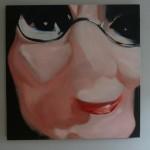 Poppenkast 7 (2012 - olieverf op doek 100/100 cm)